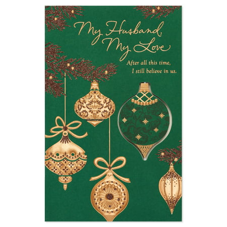 American greetings ornaments christmas card for husband with american greetings ornaments christmas card for husband with glitter m4hsunfo