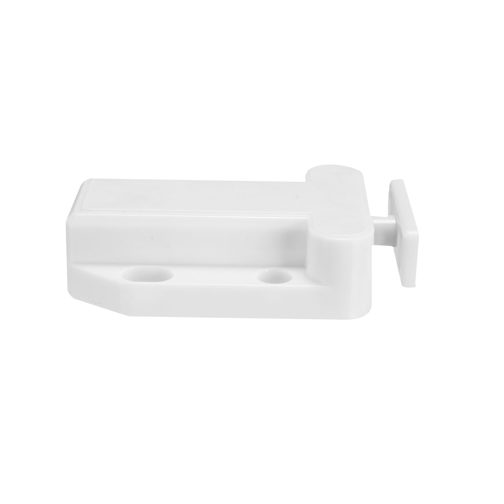 Push Open Latch Lock Touch Catch for Bedroom Cabinet Cupboard Drawer White 5Pcs - image 3 of 8