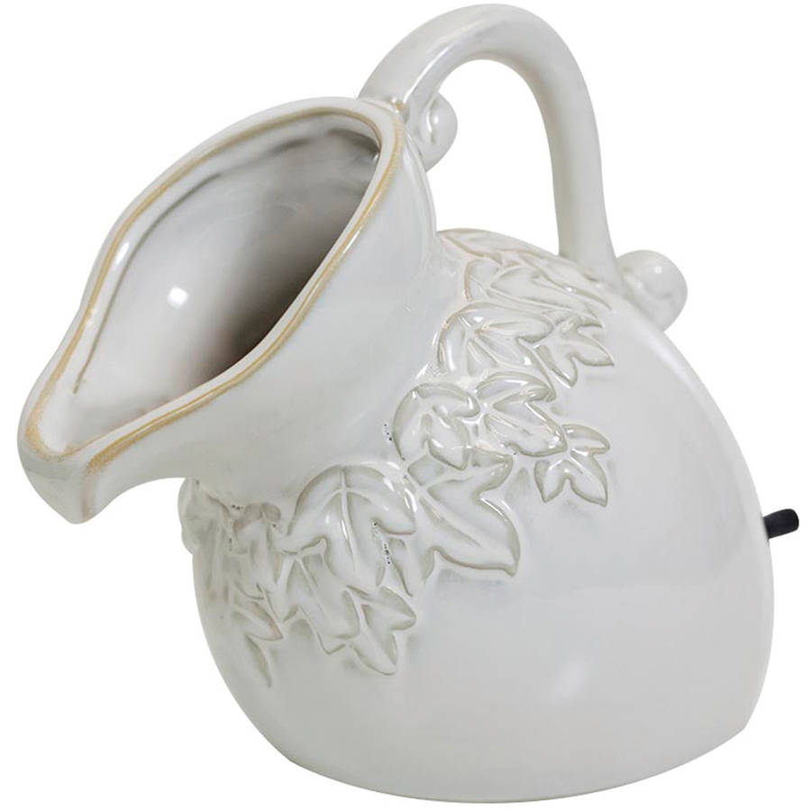 "Pond Boss SPPC 8.5"" x 6.5"" x 13"" Cream Ceramic Pouring Pitcher Spitter"