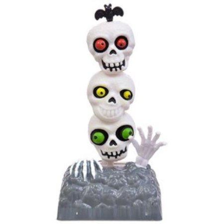 2018 NEW Solar Toy - 3 Skull Spooky Skeleton Ghost Tombstone Halloween Bobble Head Car Dash Home Decor (Toy Skeleton)