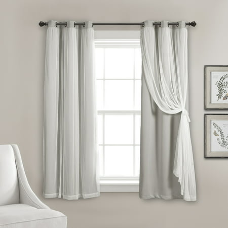 Lush D Cor Grommet Sheer Curtain Panels With Insulated