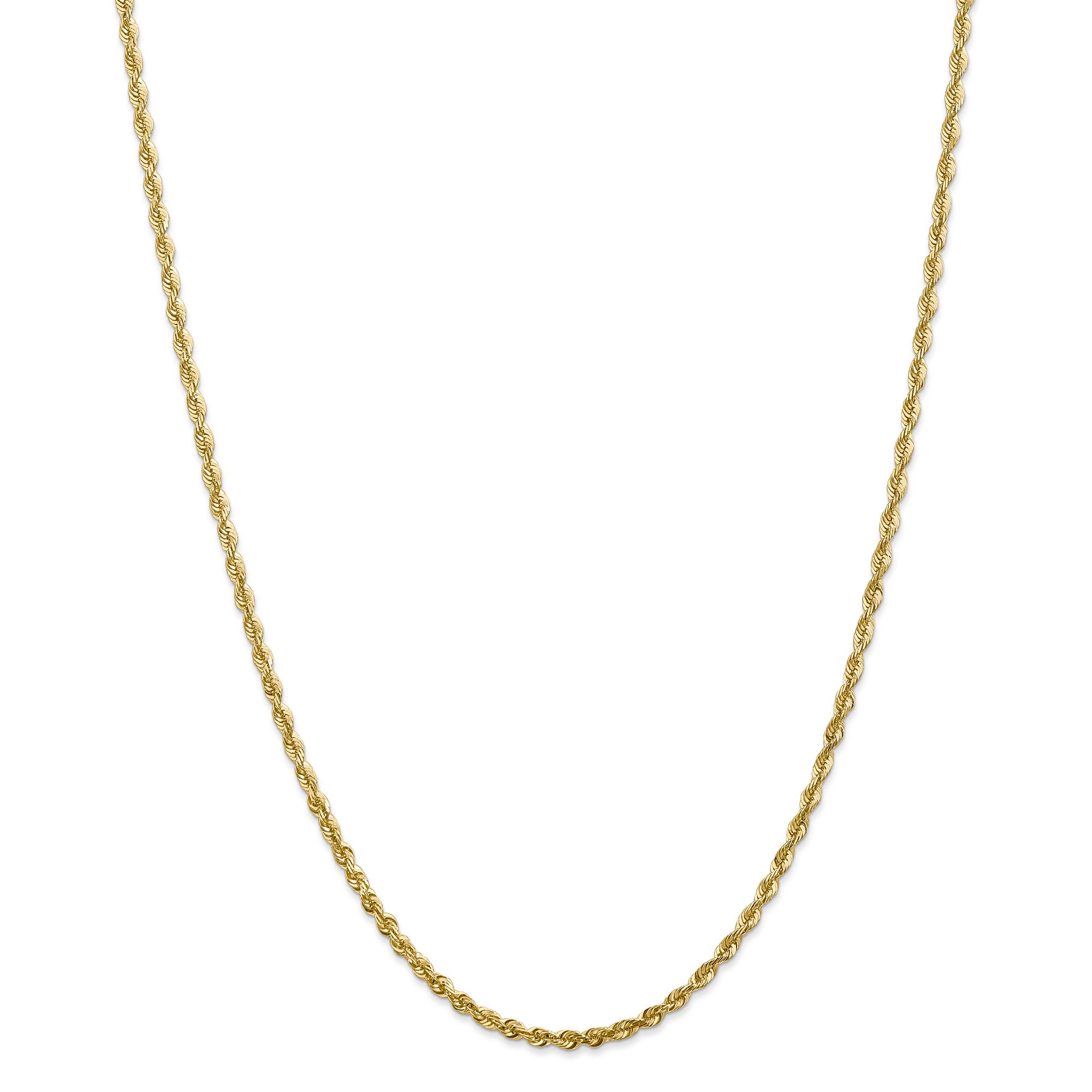 Roy Rose Jewelry 14K Yellow Gold 2.8mm Diamond-cut Extra-...