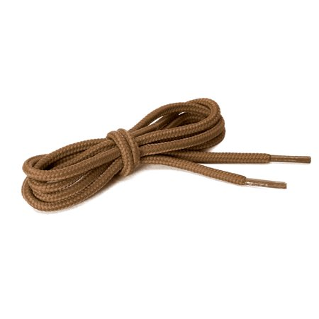 2 Pairs Unisex Round Shoelaces for Casual Sneakers Shoes Gold Brown 90cm - image 1 of 4