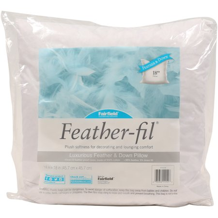 """Fairfield Feather-Fil Feather & Down Pillow Insert - 18"""" x 18"""""""