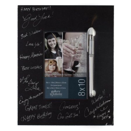 - Gallery Solutions Black Signature Mat with Pen, 8 by 10-Inch