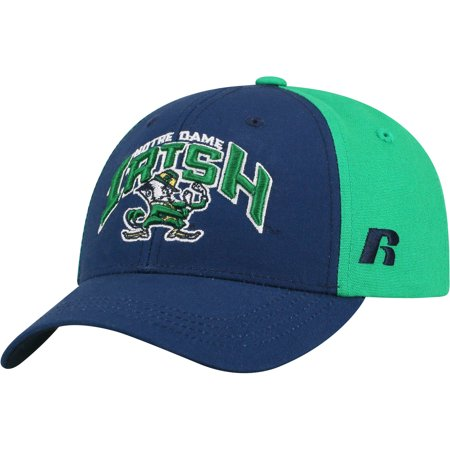 Youth Russell Navy/Green Notre Dame Fighting Irish Tastic Adjustable Hat - OSFA - Halloween Tree Notre Dame