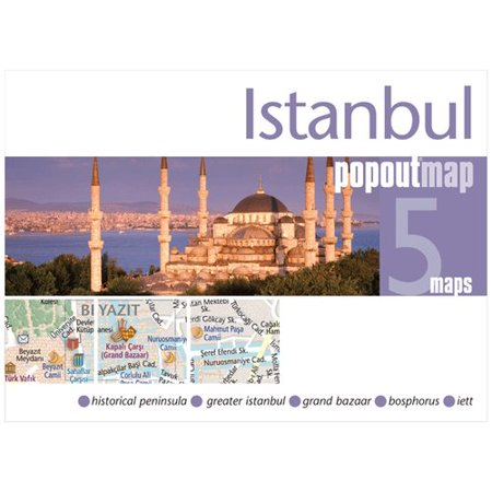 Universal Map Istanbul Turkey PopOut Map