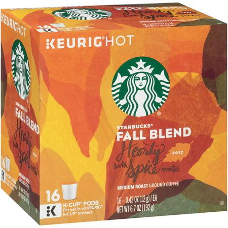 Starbucks® Fall Blend Medium Roast Ground Coffee K-Cup® Pods 16 ct Box