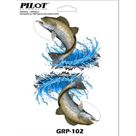 Pilot Automotive GRP-102 6 x 8 in. Universal Fish Decal