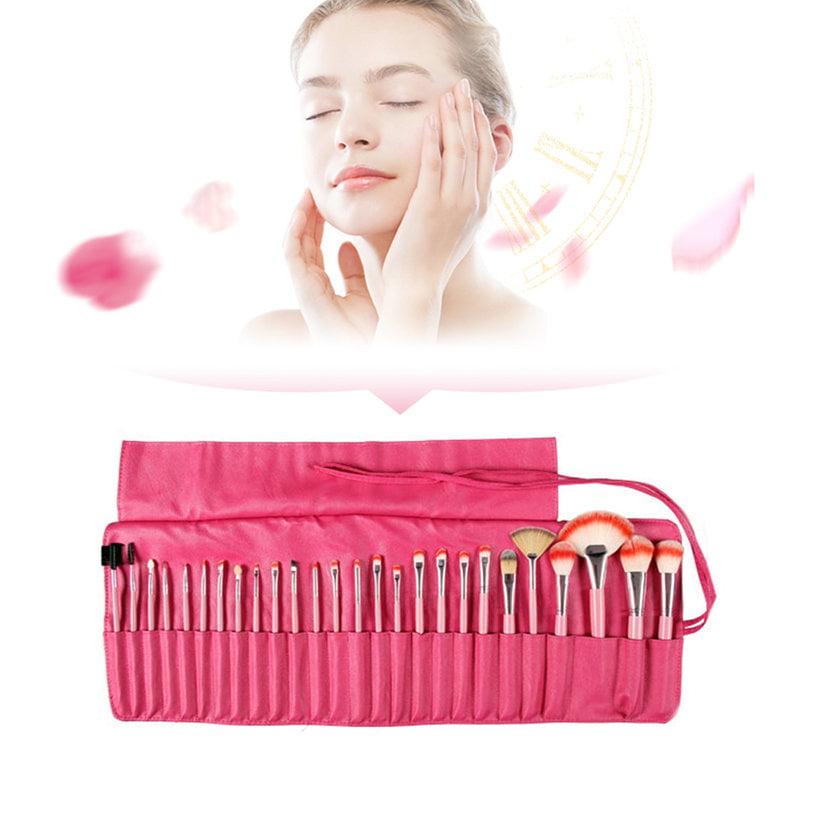 24pcs Makeup Brushes Foundation Powder Eyeshadow Comsmetic Case Kit Set Holiday Gifts, Black,