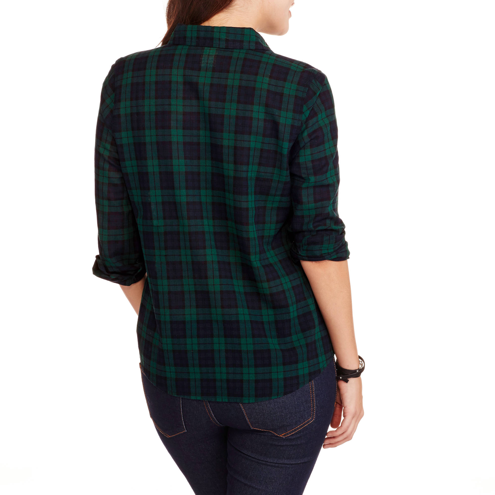 Faded Glory Women's Classic Plaid Shirt - Walmart.com