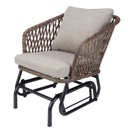 Mainstays Battle Creek Outdoor Wicker Glider Chair