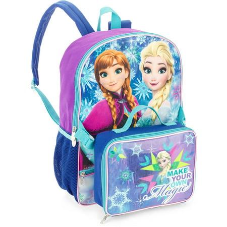 e27cbda6e74b Disney - Frozen Backpack With Lunchbox And Zip Po - Walmart.com