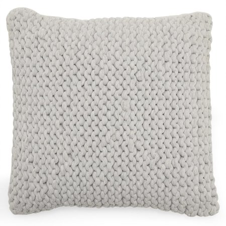 MoDRN Scandinavian Knit Decorative Throw Pillow, 18