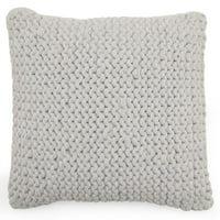 """MoDRN Scandinavian Knit Decorative Throw Pillow, 18"""" x 18"""""""