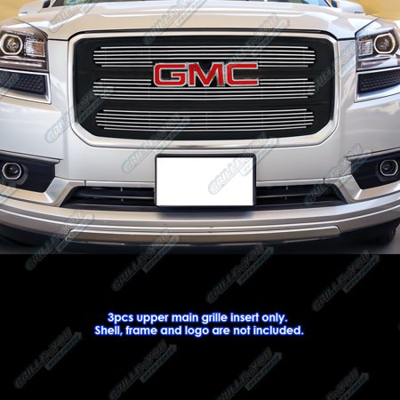 Fits 2013-2016 GMC Acadia Chrome Billet Grille Insert with Logo Show #G65975A