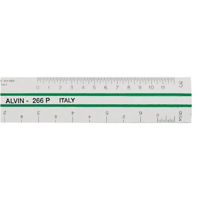 Alvin 269P Scale 4 Bevel Flat Eng 6 Plas