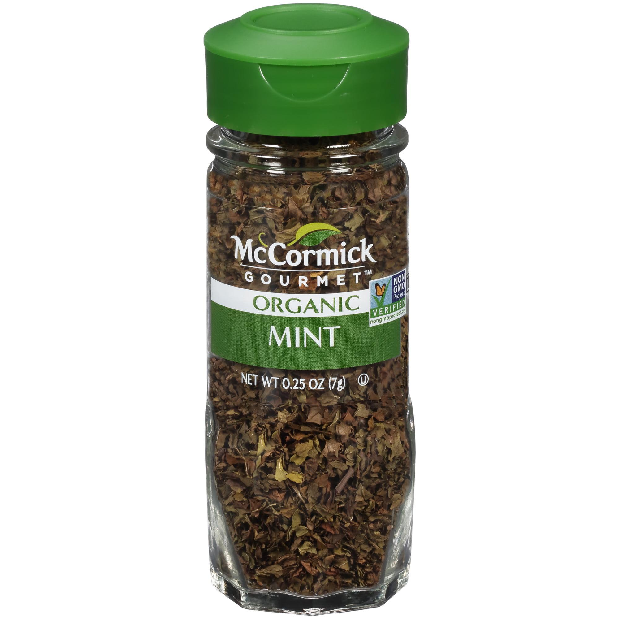 McCormick Gourmet Organic Mint, 0.25 oz
