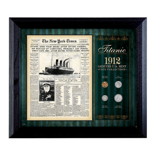 American Coin Treasures New York Times Titanic 1912 U.S. Mint Coin Wall Framed Memorabilia