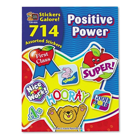 Teacher Created Resources Sticker Book  Positive Power  714 Pack