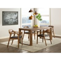 Rasmus Mid Century Wood 5 Piece Dining Set with Arm Chairs