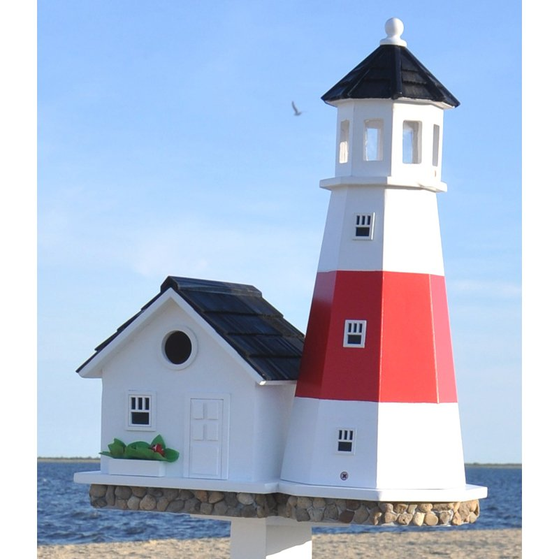 Home Bazaar Montauk Point Lighthouse Birdhouse by Bird Houses