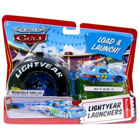 Disney Cars Lightyear Launchers Rev N Go No  73 Diecast Car  With Launcher