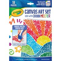 Crayola Crayon Melter Accessory Pack, Canvas Art, 18 Count