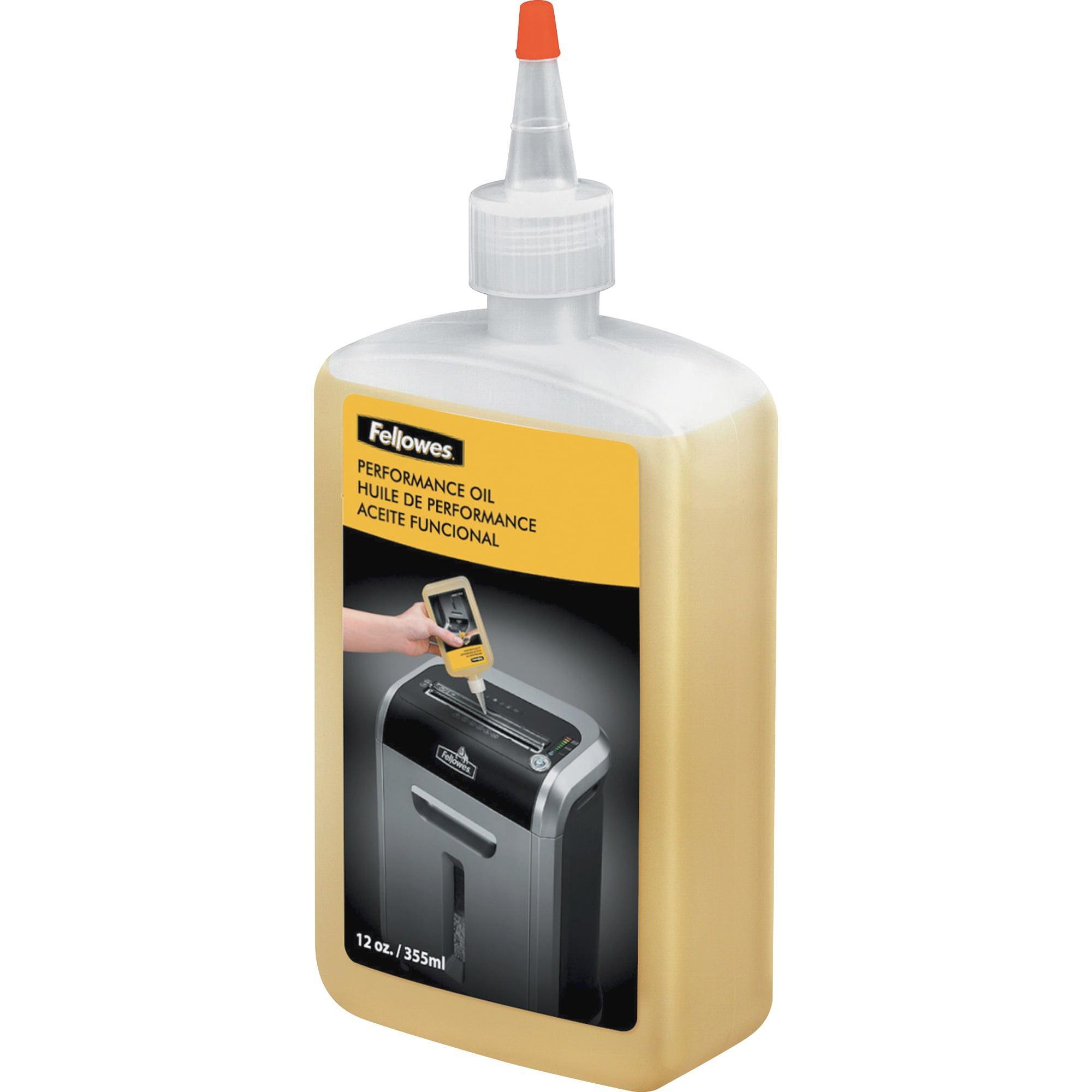 Fellowes Powershred Shredder Oil - 12 Oz. Bottle, 1 Each, Light Amber