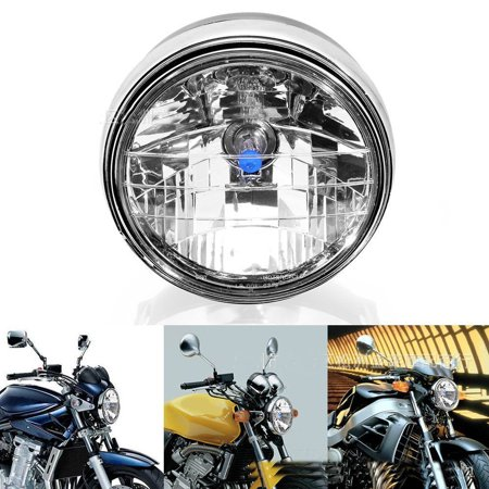 GZYF Motorcycle Chrome Universal Halogen Headlight Assembly fits Honda CB400 CB500 CB1300 Chopper Custom HORNET CB250 / CB400 SF/ CB500 / CBF600 / CB750 / CB919 / CB1000 ()