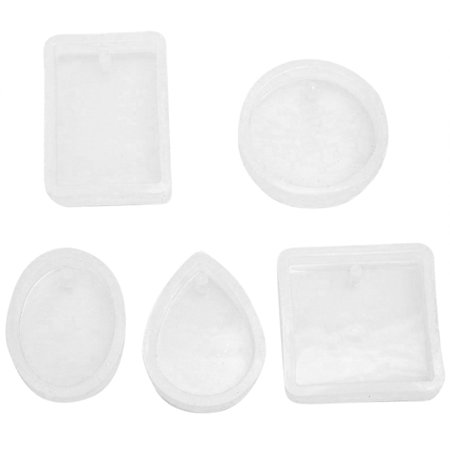 Outtop 1Set Pendant Silicone Mold Resin Silicone Mould Handmade Tool Epoxy Resin Molds