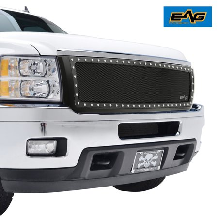 EAG 11-14 Chevy Silverado 2500/3500 Grille Rivet SS Wire Mesh Grille W/Matte Shell Aps Ss Wire Mesh