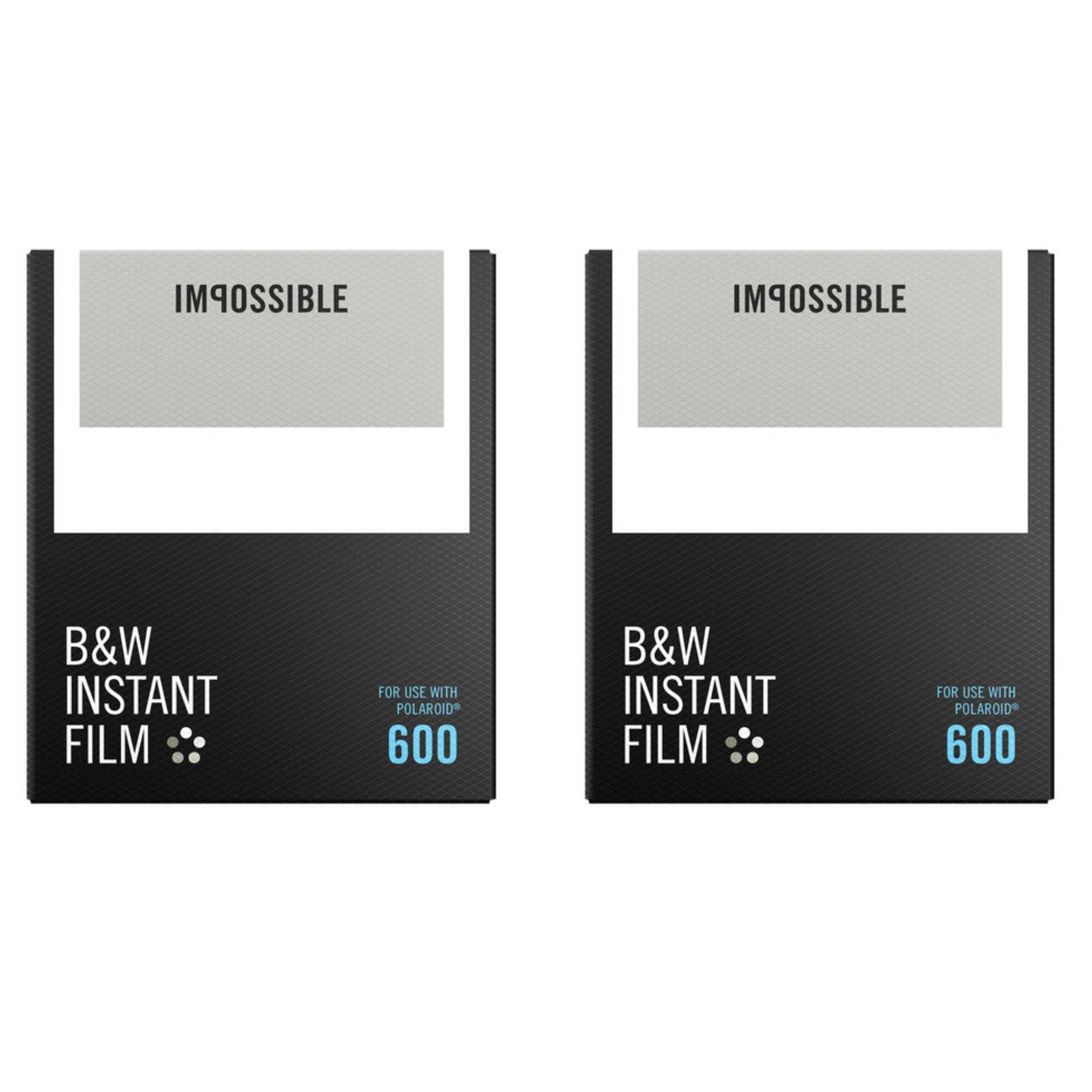 Impossible B&W Instant Film for 600 (White Frame/8 Exposures) 2-Pack