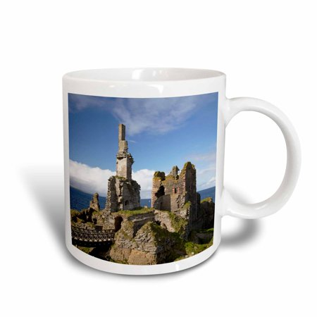 3dRose Castle Sinclair Girnigoe, Wick, Caithness, Scotland - EU36 DWA0081 - David Wall, Ceramic Mug, 15-ounce