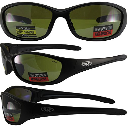 Global Vision Hole In One Riding Safety Sunglasses Black