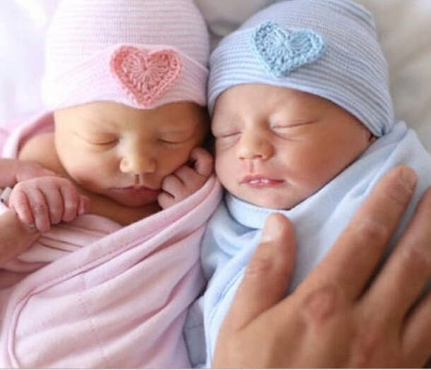 Newborn Baby Hat /& Heart