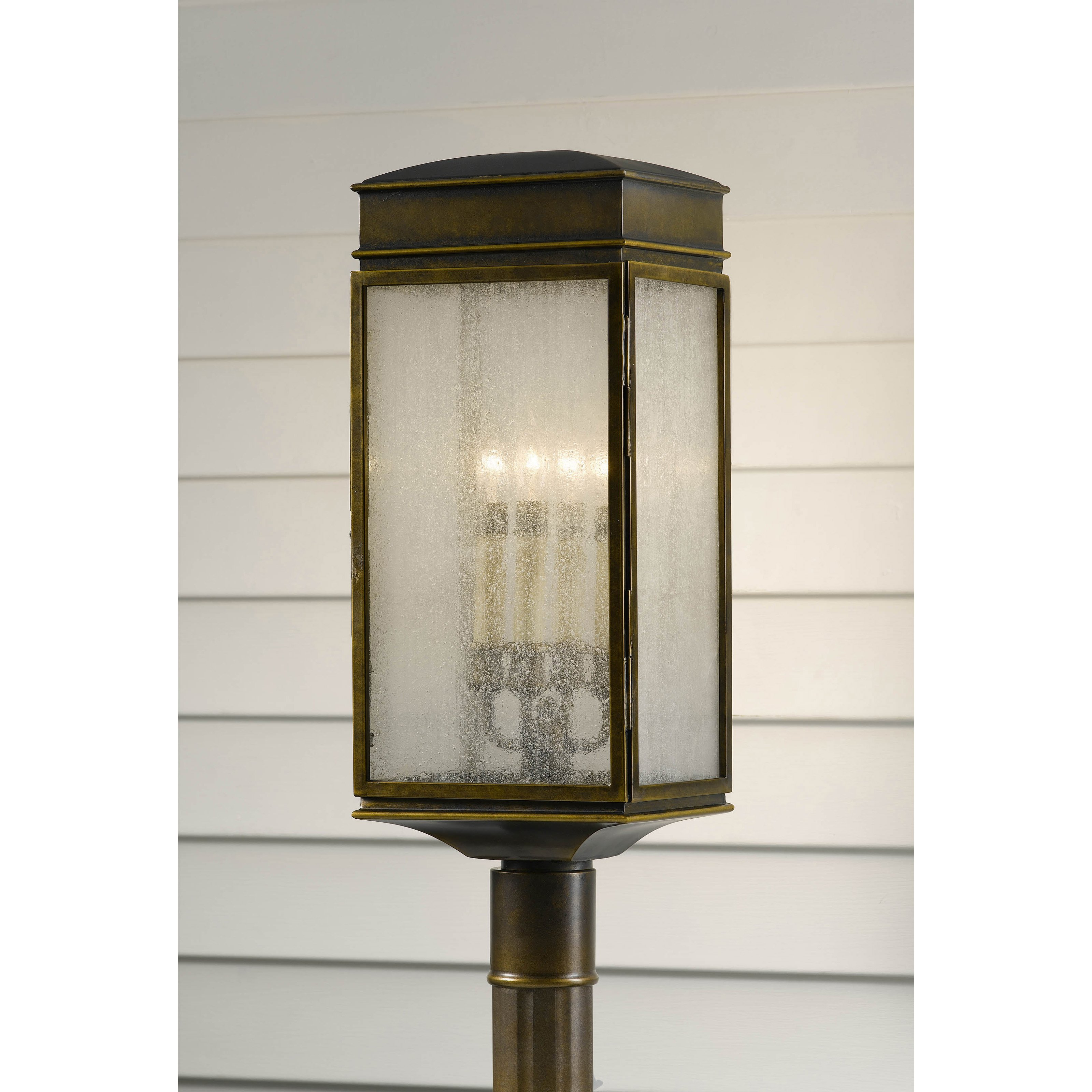 Feiss Whitaker OL7407ASTB Outdoor Post Lantern 9W in. Astral Bronze by Murray Feiss