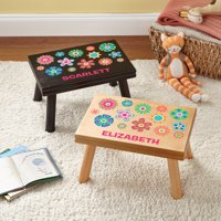 Personalized Pretty Petals Step Stool, Available in 3 Finishes