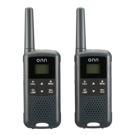 onn. 23 Mile 22 Channel Walkie Talkie, 2 Pack
