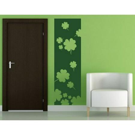 Lucky Four leaf Clovers Decorative Strip Wall Decal Wall Sticker Vinyl