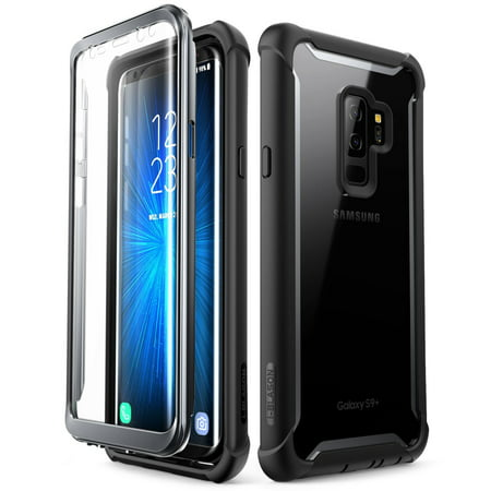 check out 505b2 1fddb Samsung Galaxy S9 Plus case, i-Blason Ares Full-body Rugged Clear Bumper  Case Without Built-in Screen Protector Black