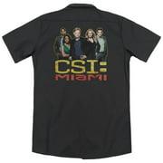 Csi Miami The Cast In Black (Back Print) Mens Work Shirt