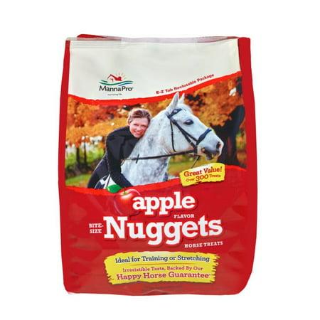 Manna Pro Bite-Size Nuggets Horse Treats, Apple, 4