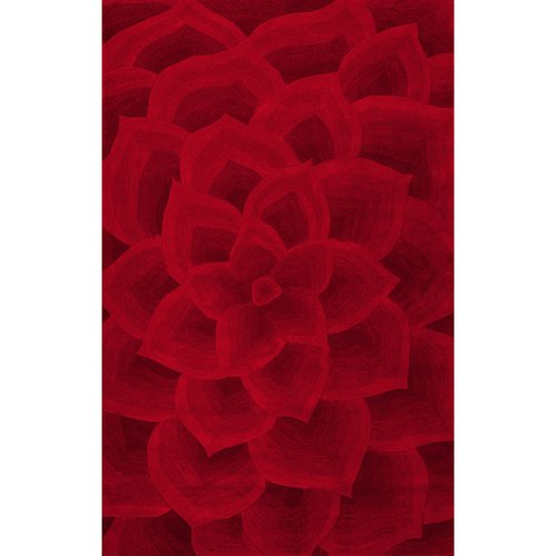 Ebern Designs Panama Hand-Tufted Red Area Rug