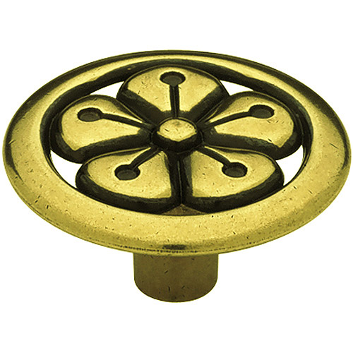 "Liberty 1-3/8"" Open Flower Design Round Knob, Lancaster"