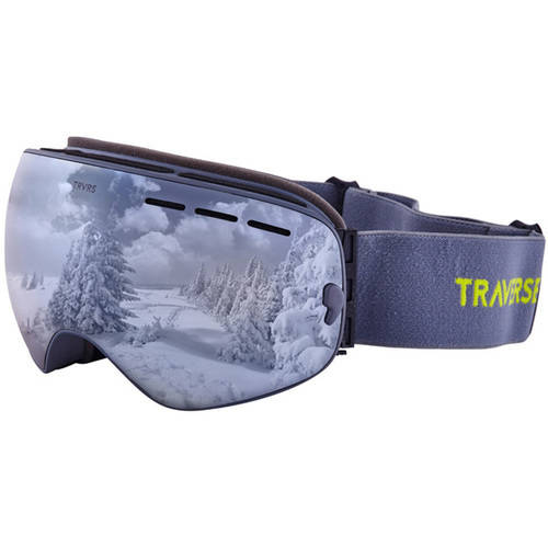 Traverse Virgata Ski, Snowboard, and Snowmobile Goggles, Midnight with Cobalt REVO Blue Lens by Traverse Sports