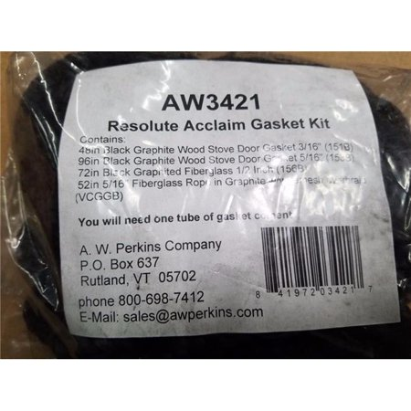 AW Perkins AW3421 Resolute Acclaim Gasket Kit For Wood Stoves Prevents Air (Best Deals On Wood Stoves)