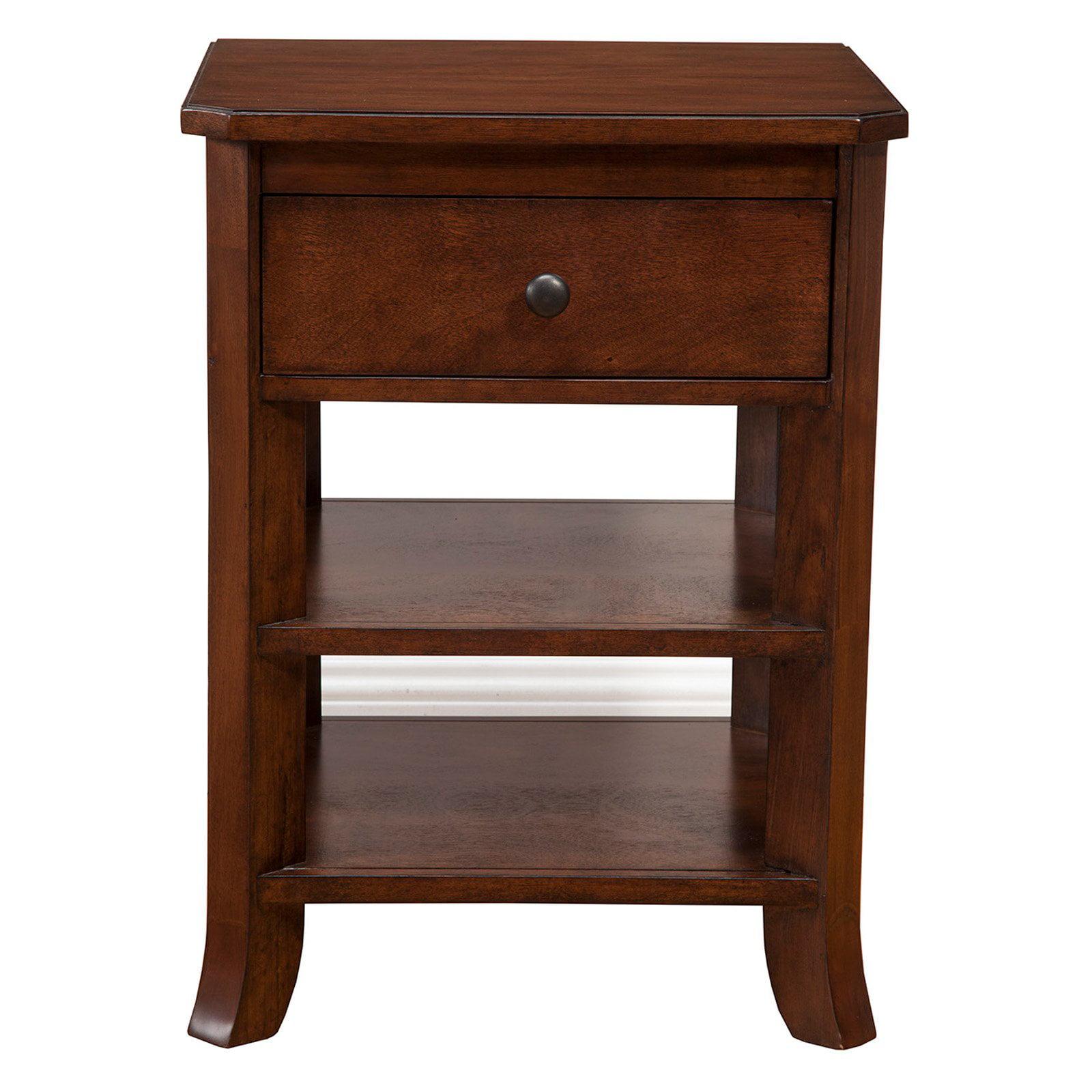 Alpine Furniture Baker 1 Drawer Nightstand