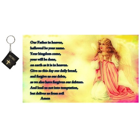 - The Lord's Prayer Mouse Pad with Key Chain Bible Angel Praying Mouse Pad, MP283