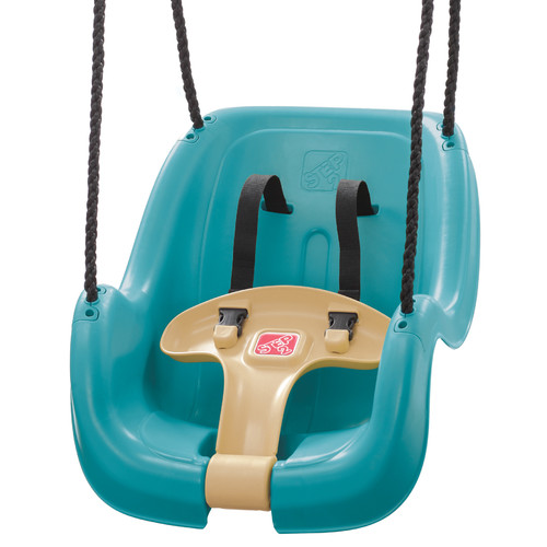 Step2 Teal Toddler Swing with T-Bar for Child Security with Weather-Resistant Ropes